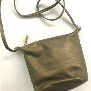 Handbags - Cross Body Bag Bronze Leather Small Purse